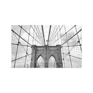 Impressão Em Tela Tapeçaria preto e branco da ponte NYC do vintage