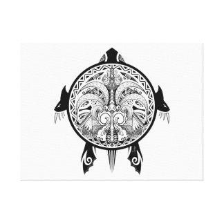Impressão Em Tela Tatuagem tribal do protetor da tartaruga