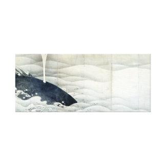 Impressão Em Tela Telas do elefante e da baleia por Ito Jakuchu