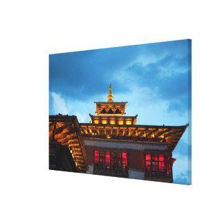 Impressão Em Tela Telhado budista de Dzong