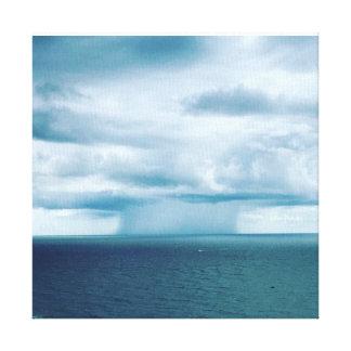Impressão Em Tela Tempestade nuclear do cogumelo no mar