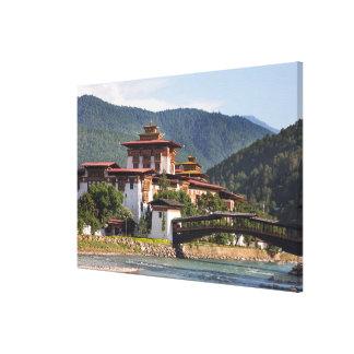 Impressão Em Tela Templo budista pelo rio