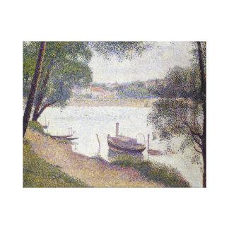 Impressão Em Tela Tempo cinzento de Georges Seurat, Jatte grandioso