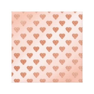 Impressão Em Tela teste padrão de bolinhas cor-de-rosa dos corações