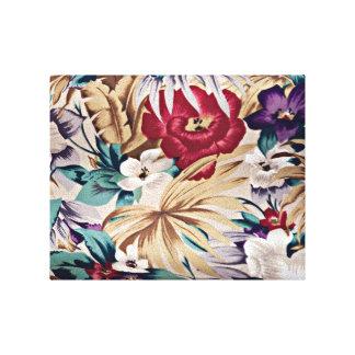 Impressão Em Tela Teste padrão de flor tropical retro