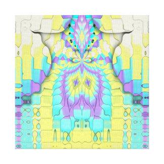Impressão Em Tela Teste padrão de néon festivo vibrante do abstrato