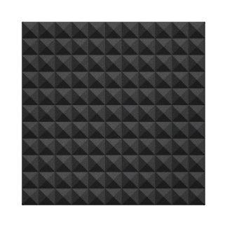 Impressão Em Tela Teste padrão geométrico moderno do quadrado preto