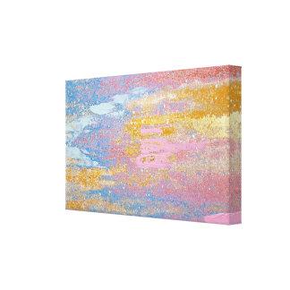 Impressão Em Tela textura pastel abstrata da pintura com mancha do