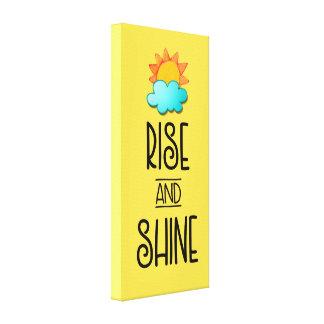 Impressão Em Tela Tipografia da elevação e do brilho com Sun e nuvem