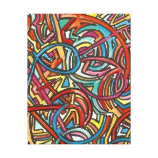 Impressão Em Tela Toda a arte do Lá-Abstrato da extremidade dos