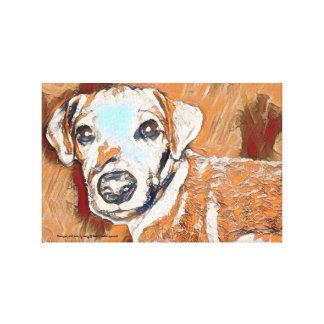 Impressão Em Tela Todos tan a pintura do terrier de Jack Russell