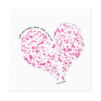 Impressão Em Tela Tome seu coração quebrado, faça-o na arte