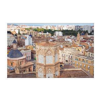 Impressão Em Tela Torre de sino Micalet e a parte histórica de