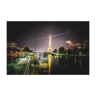 Impressão Em Tela Torre Eiffel