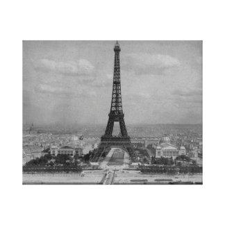 Impressão Em Tela Torre Eiffel de France, Paris, foto retro