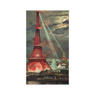 Impressão Em Tela Torre Eiffel Paris France do vintage