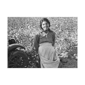 Impressão Em Tela Trabalhador emigrante no campo do algodão por