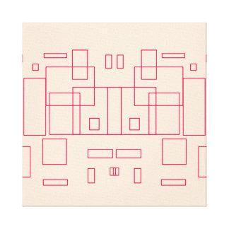 Impressão Em Tela Trabalhos de arte do esboço do arquiteto do modelo