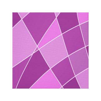 Impressão Em Tela Trabalhos de arte roxos do design dos quadrados