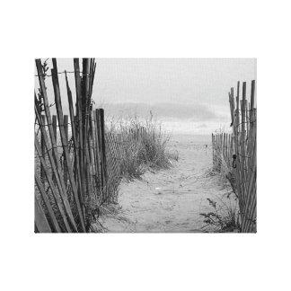 Impressão Em Tela Trajeto da praia
