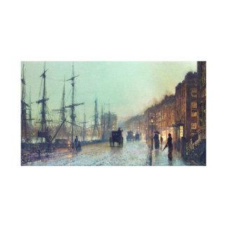 Impressão Em Tela Transporte de George Atkinson Grimshaw no Clyde