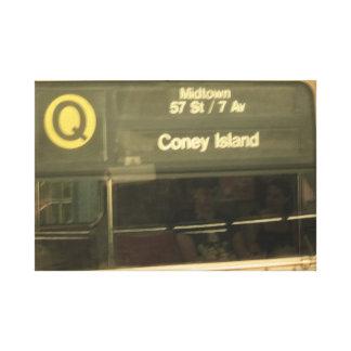 Impressão Em Tela Trem a Coney Island