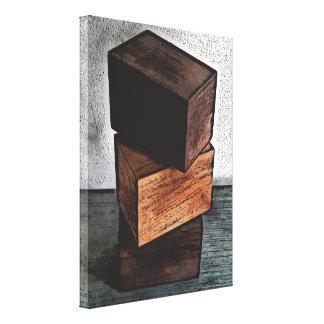 Impressão Em Tela Três caixas de madeira no armário