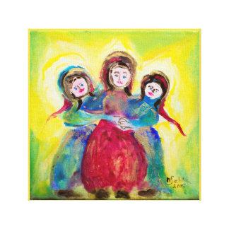 Impressão Em Tela Três mulheres ao dia de mãe