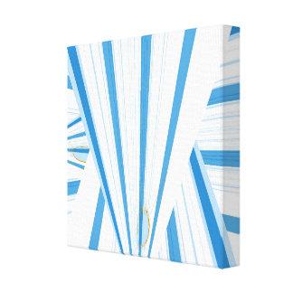Impressão Em Tela triângulo azul