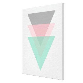 Impressão Em Tela Triângulos