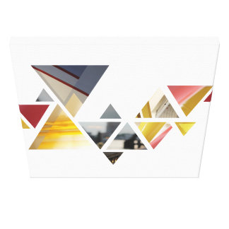 Impressão Em Tela triângulos abstractos