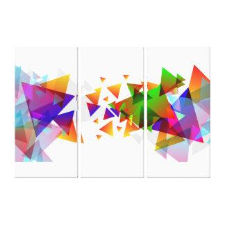 Impressão Em Tela Triângulos abstratos