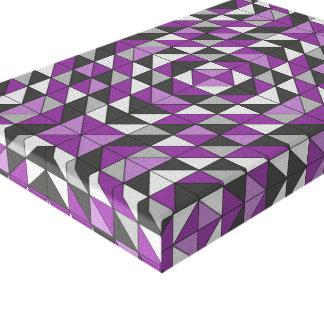 Impressão Em Tela Triângulos modelados roxo
