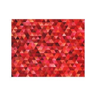 Impressão Em Tela Triângulos sangrentos