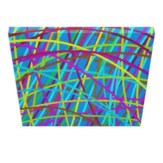 Impressão Em Tela Trilhas da pintura - azul