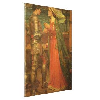 Impressão Em Tela Tristan e Isolde pelo Waterhouse, belas artes do