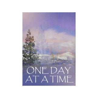 Impressão Em Tela Um dia em uma neve das colinas das árvores do