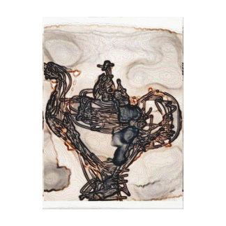 Impressão Em Tela Um furo na parede - madeira escura