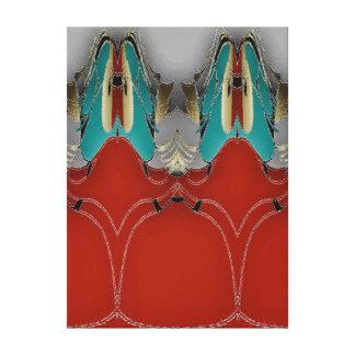 Impressão Em Tela Um furo na parede - um dom do vermelho