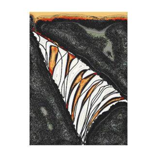 Impressão Em Tela Um furo na parede - uma fatia de laranja