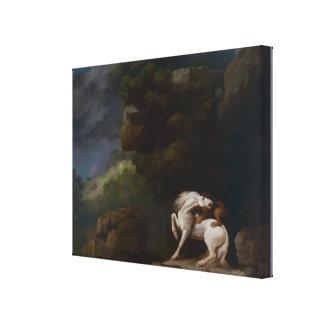 Impressão Em Tela Um leão que ataca um cavalo por George Stubbs