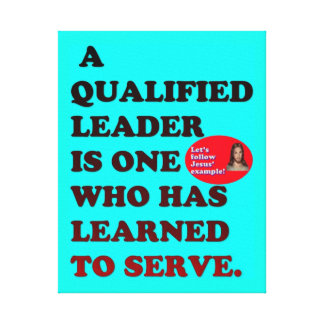 Impressão Em Tela Um líder qualificado aprendeu serir