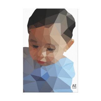 Impressão Em Tela Um menino
