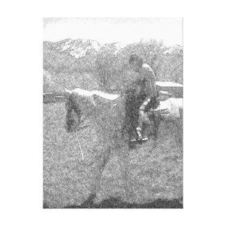 Impressão Em Tela Um menino e seu cavalo