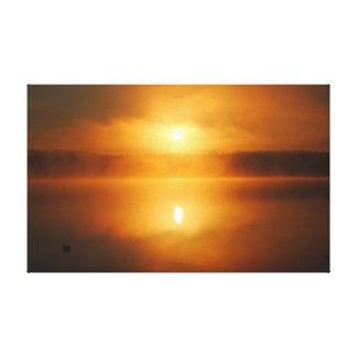 Impressão Em Tela Um nascer do sol do norte na manhã