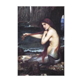 Impressão Em Tela Uma sereia por J W WaTERHOuSE, 1901