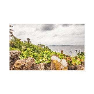 Impressão Em Tela Uma vista da costa irlandesa em Dunmore do leste,