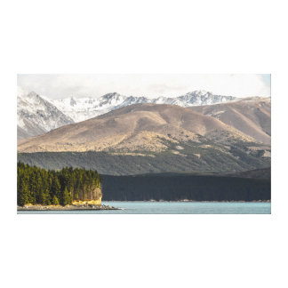 Impressão Em Tela Uma vista diferente no lago Pukaki