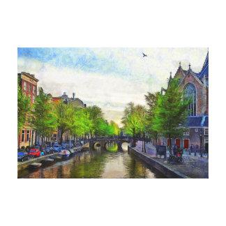 Impressão Em Tela Uma vista do canal perto de Oudekerk.