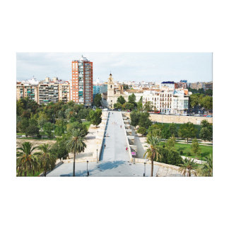 Impressão Em Tela Uma vista do rio Turia da torre de Serranos